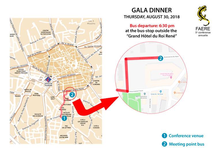 gala dinner bus departure